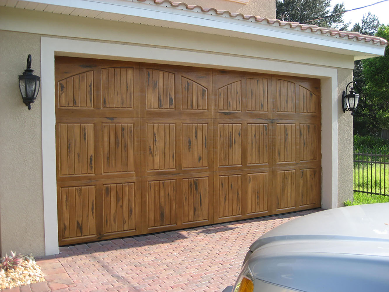 1000 #6E4B2C Garage Doors Windows Doors Columns And More. picture/photo Overhead Doors Tampa 35791333